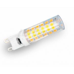 LED žárovka 6,8W 75xSMD2835 G9 620lm TEPLÁ BÍLÁ